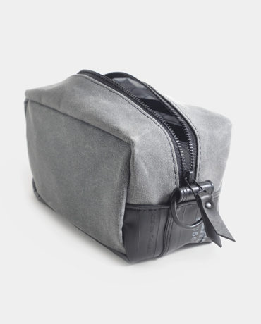travel dopp kit waxed canvas and inner tube