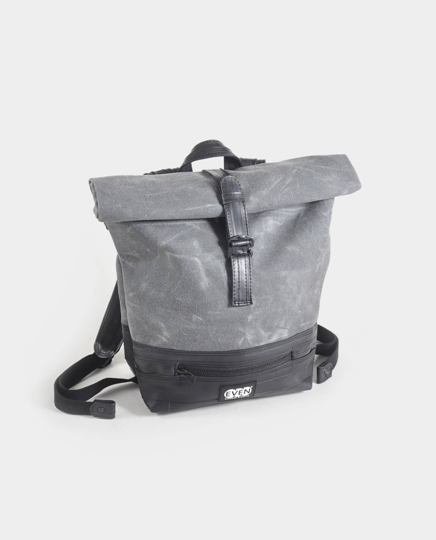 Waxed Canvas Small Rolltop Backpack