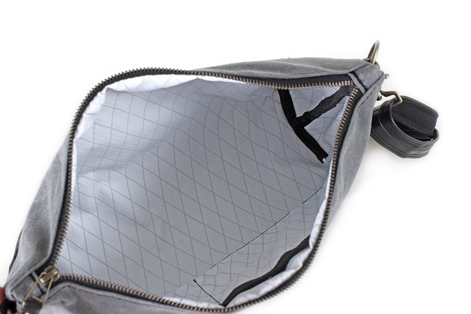 delphine bag with x-pac weatherproof lining