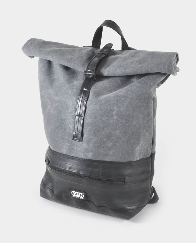 large waxed canvas rolltop daypack