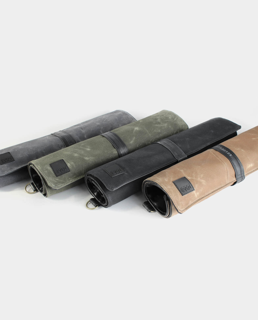 waxed canvas chef knife rolls