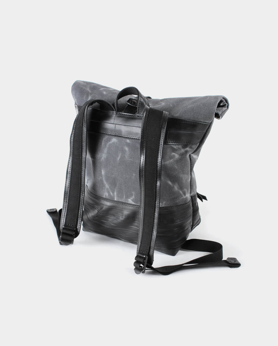 small waxed canvas backpack