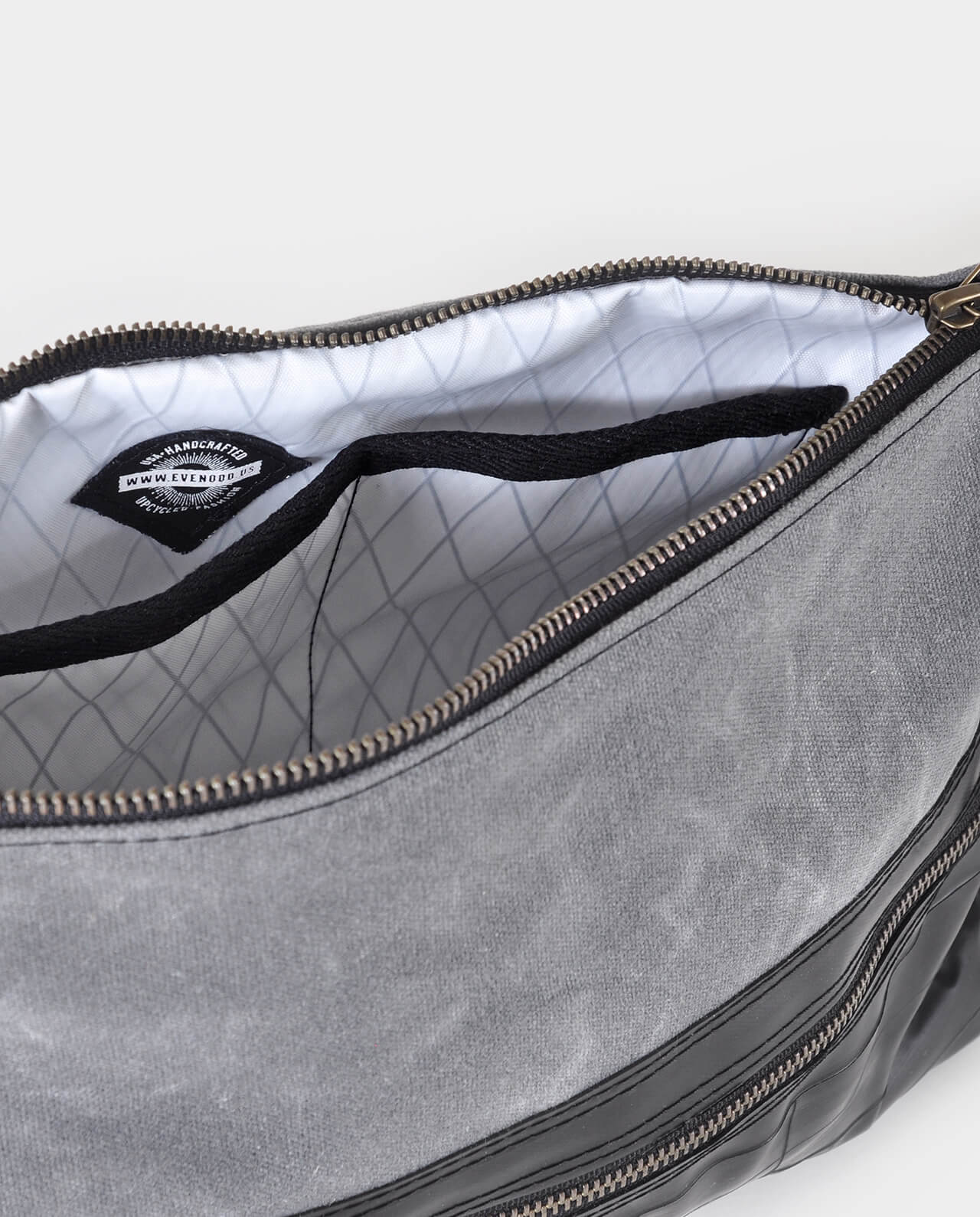 waxed canvas cross body bag x-pac liner