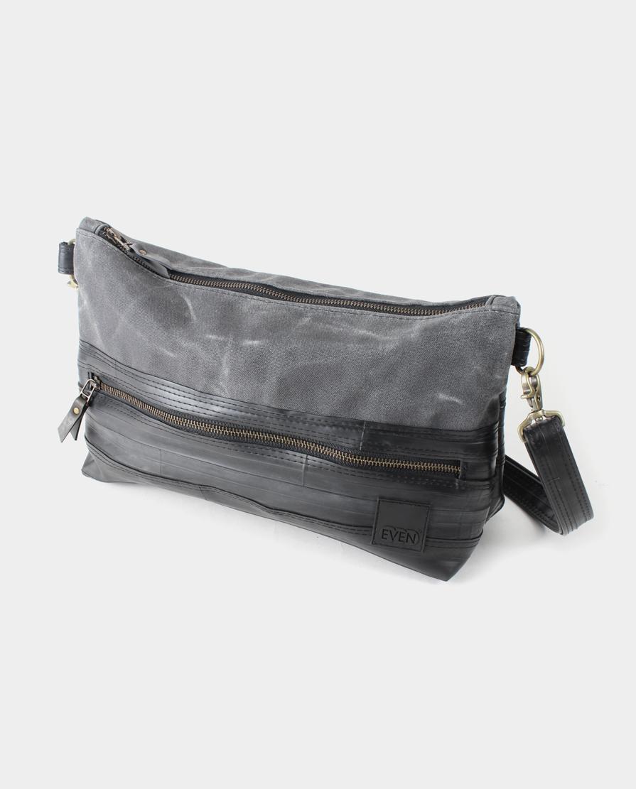 waxed canvas crossbody shoulder bag