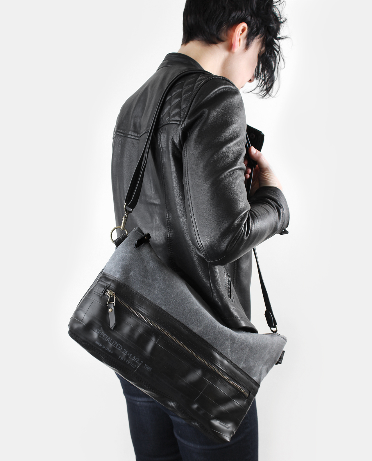 waxed canvas crossbody shoulder bag