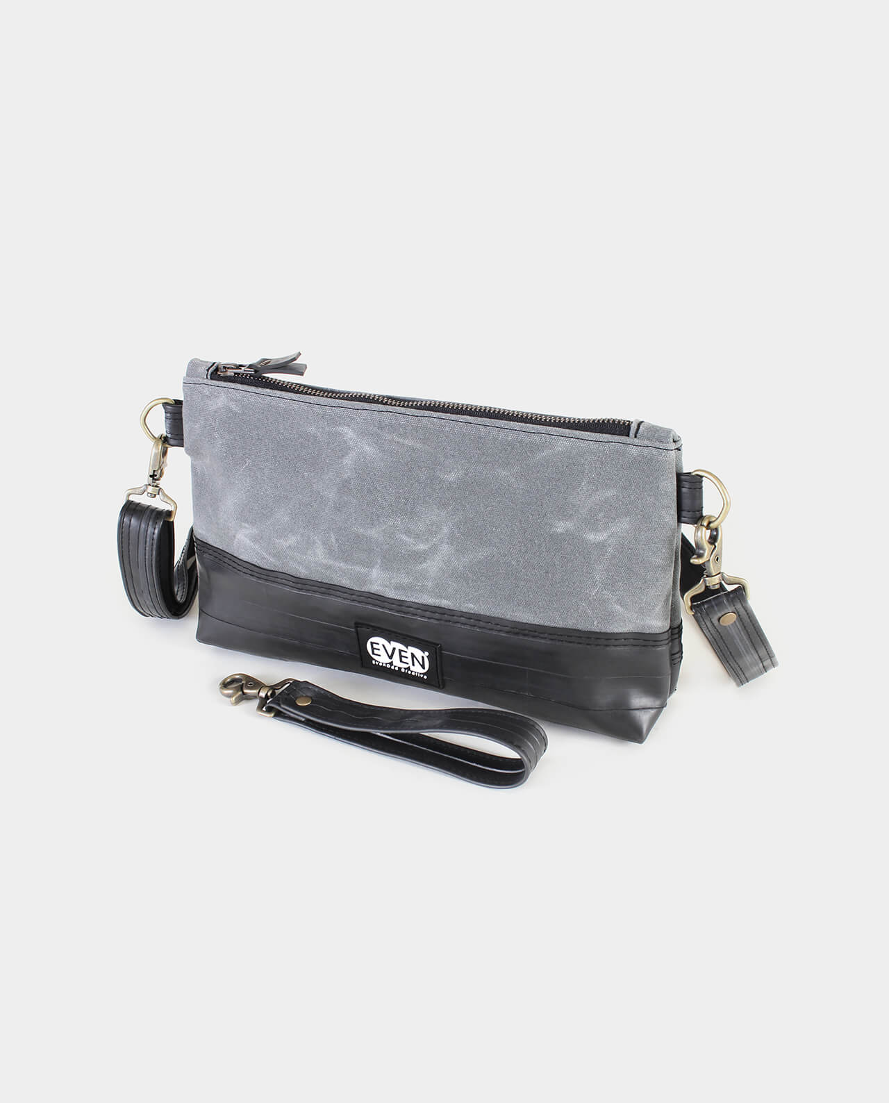 waxed canvas crossbody clutch