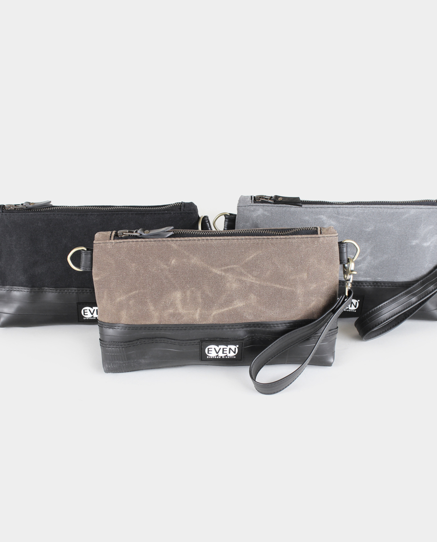 mara clutch waxed canvas colors