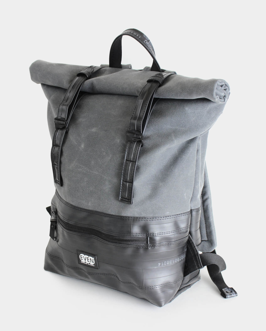 large rolltop daypack waxed canvas