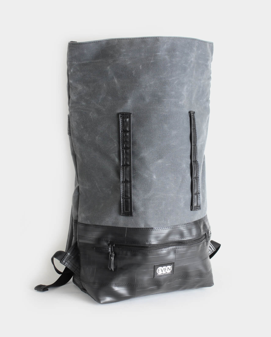 expandable rolltop daypack waxed canvas