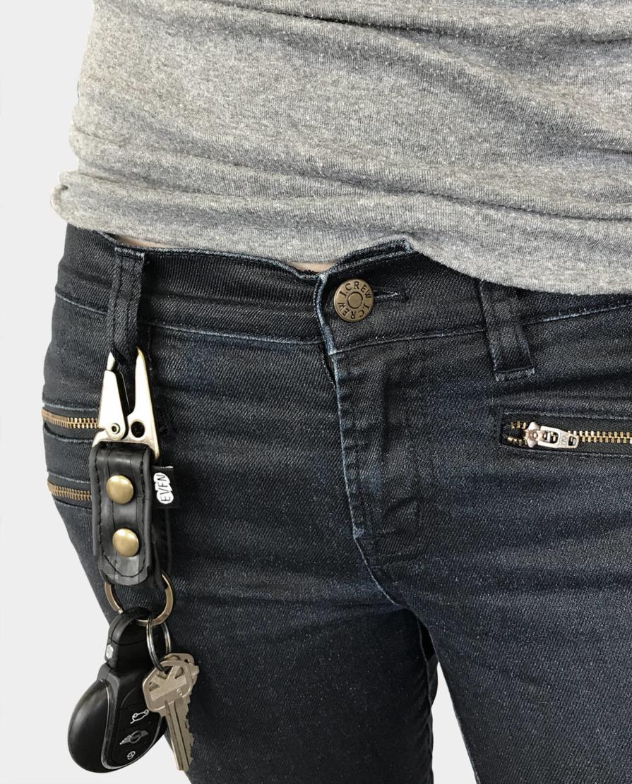 antique brass key chain sling clip