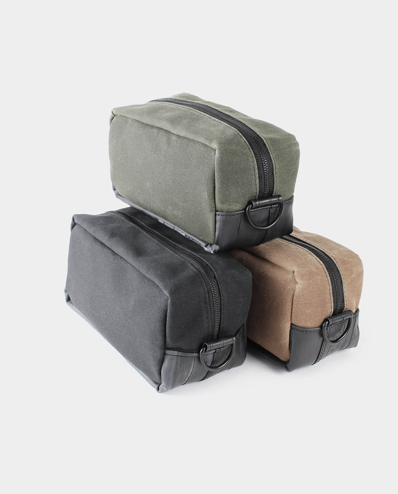 waxed canvas travel dopp kit
