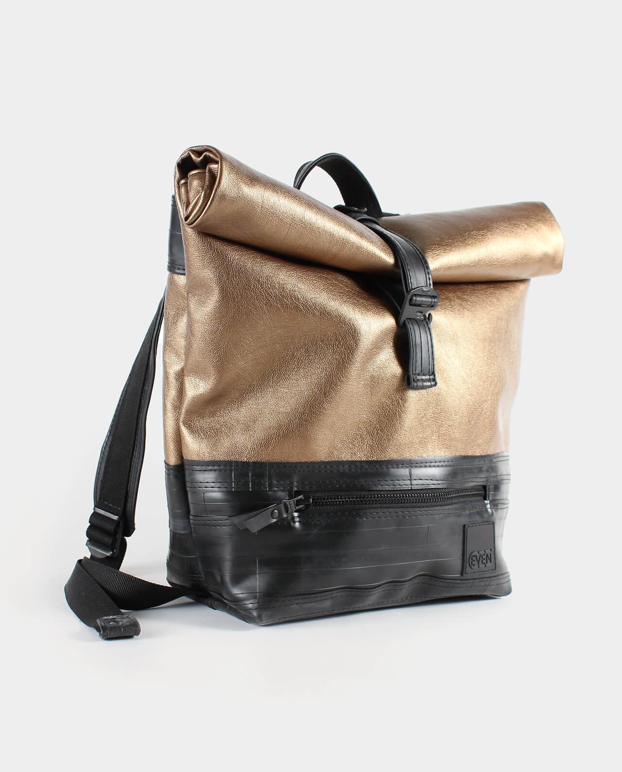 metallic copper backpack
