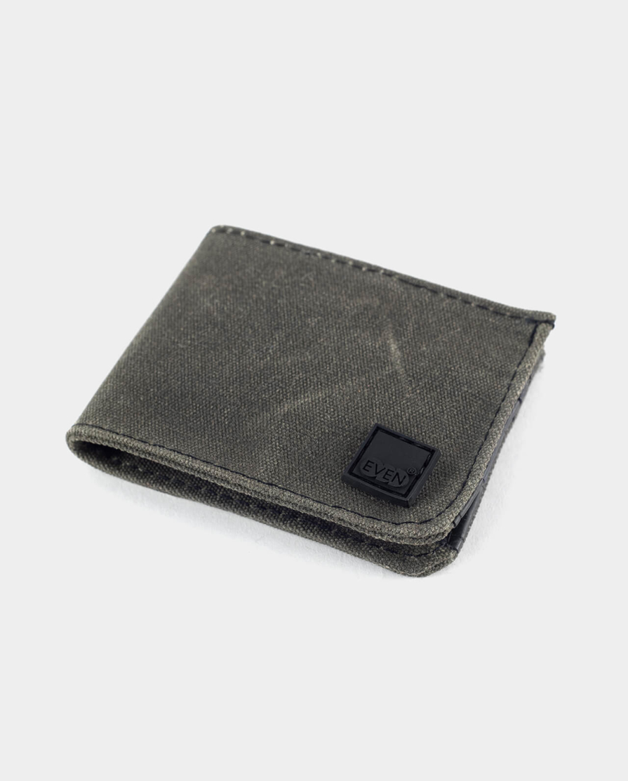 waxed canvas and inner tube bi fold wallet