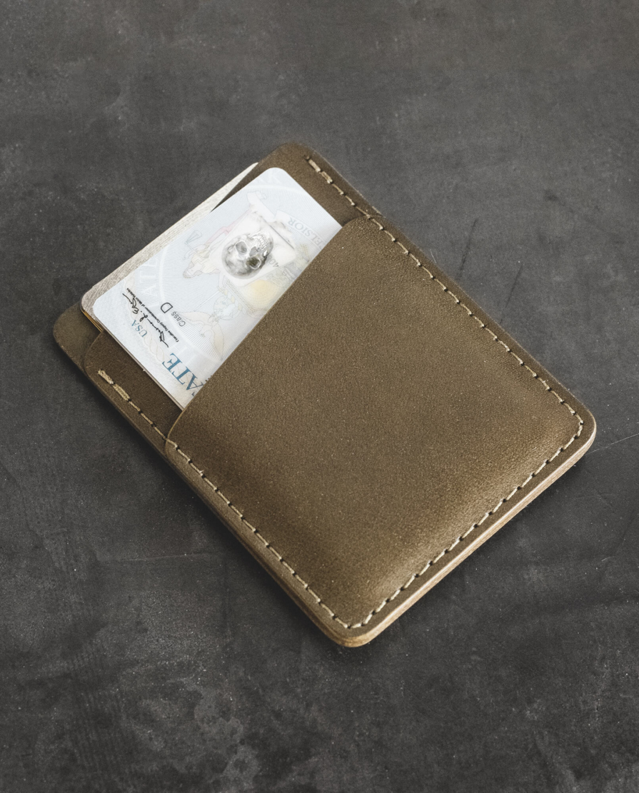 Leather Vertical Slim Card Wallet